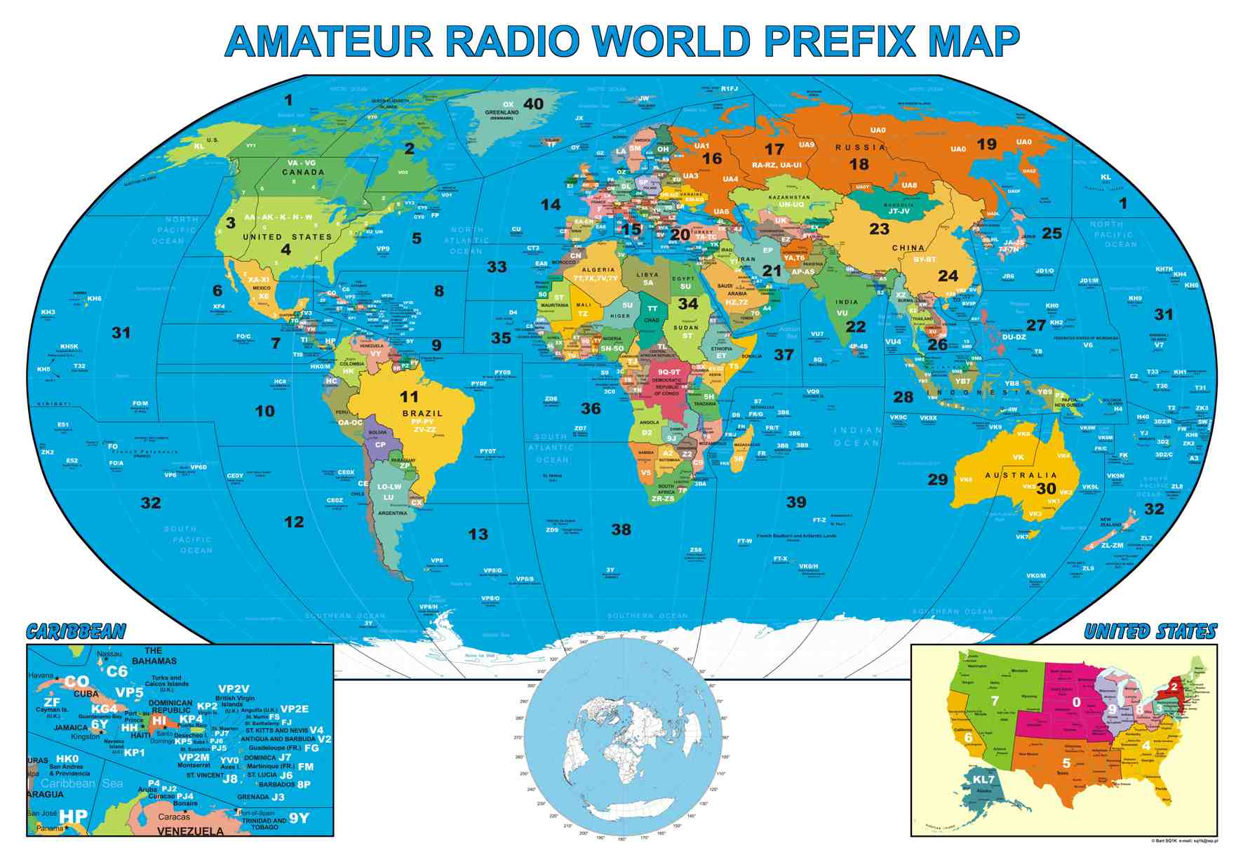Ham Radio International Prefix List - WWWON4SHBE
